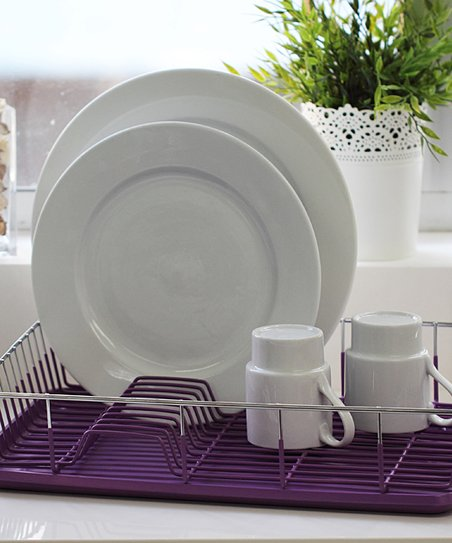 love this product Purple Dish Drainer Set 663b97dbdd