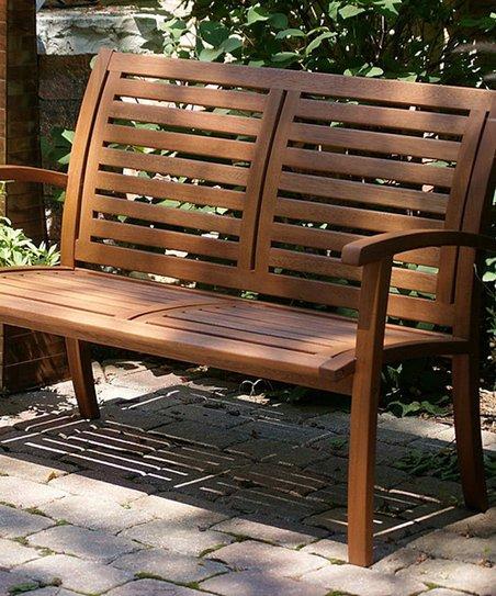 Outdoor Interiors Eucalyptus Luxe Bench Zulily