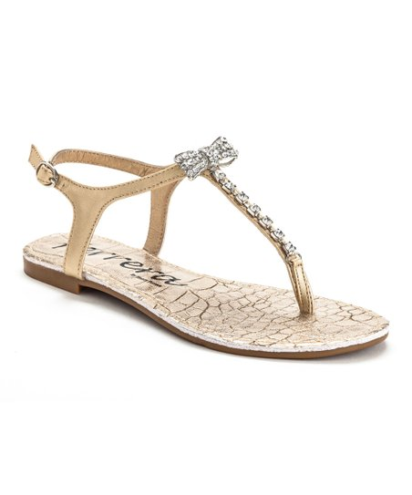 3bdb95105 love this product Gold Rhinestone Bow Sandal