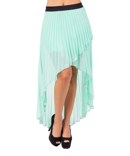 ce0cfa727f love this product Minted Pleated Hi-Low Skirt