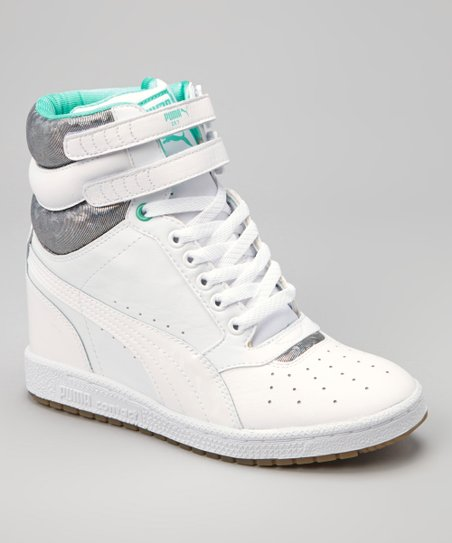 d89d76e45b5 love this product White Electric Green Sky Wedge OP Sneaker