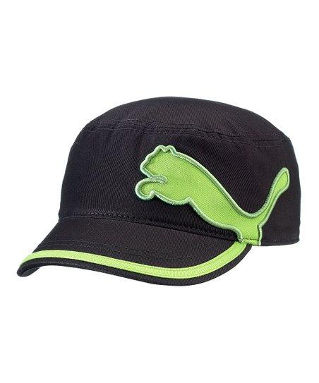 df378df1db6 PUMA Black   Green Leap Military Cap