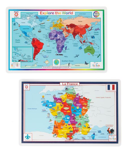 Tot Talk Travelling To France France Map World Activity Place Mat