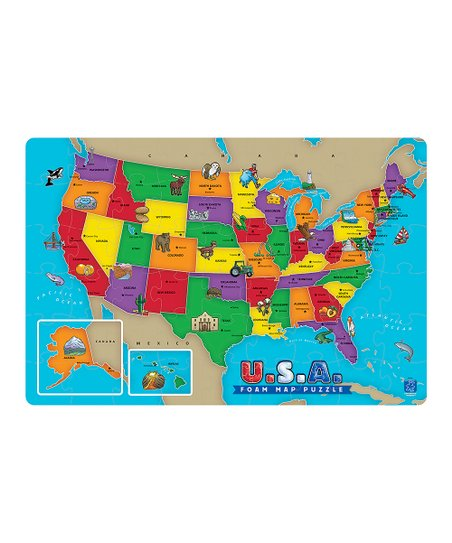 Educational Insights Usa Map Foam Puzzle Zulily - Map-of-us-puzzle