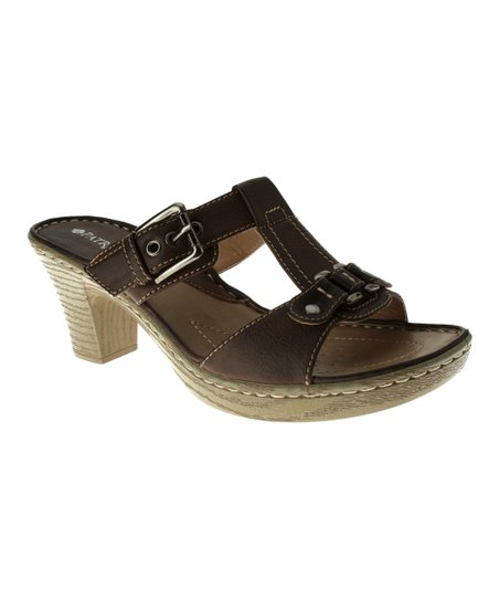 3b61ee705de5 Patrizia by Spring Step Brown Batya Slide Sandal