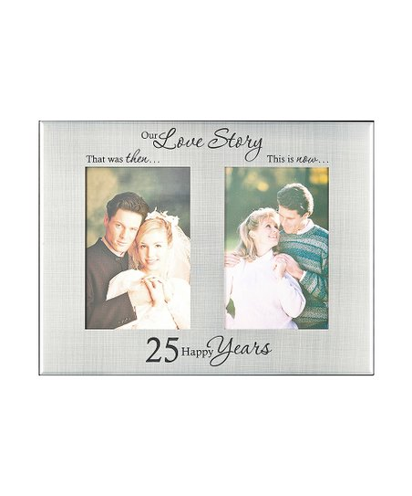 Ganz 25th Anniversary Then Now Frame Zulily