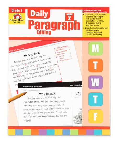 Evan-Moor Educational Publishers Grade 2 Daily Paragraph Editing Workbook