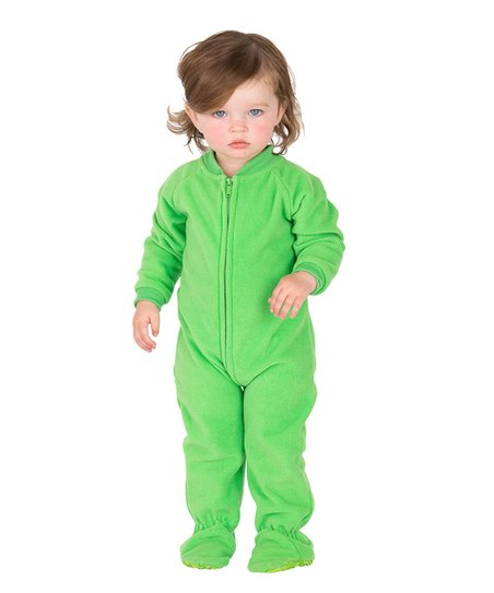 b99fa6388 Footed Pajamas Emerald Green Zip-Up Footie - Infant