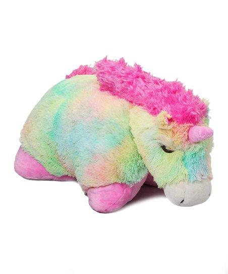pillow pets rainbow unicorn pillow pet zulilyrainbow unicorn pillow pet
