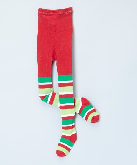 0a08e0477 love this product Red   Green Stripe Tights - Infant