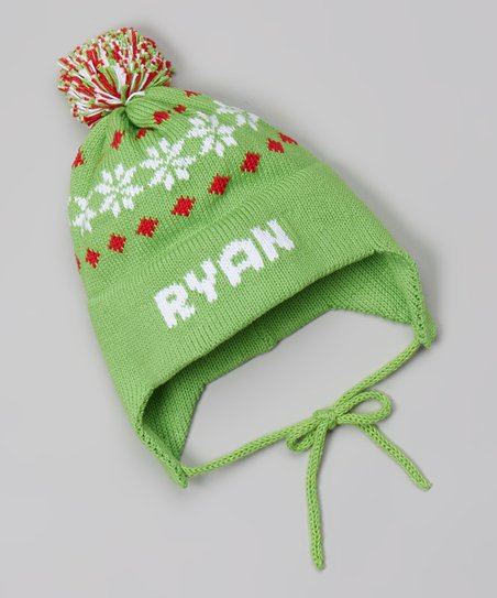 love this product Green Snowflake Personalized Earflap Beanie - Infant e5889933445