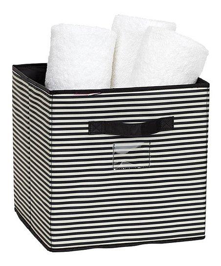 Miraculous Isaac Mizrahi New York Black White Stripe Storage Cube Home Interior And Landscaping Ologienasavecom