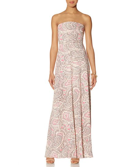 The Limited Pink Paisley Strapless Maxi Dress Women Zulily