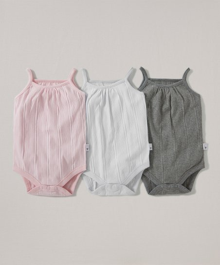 95524f7ddf96 love this product Blossom, Cloud & Storm Ribbed Organic Bodysuit Set -  Infant