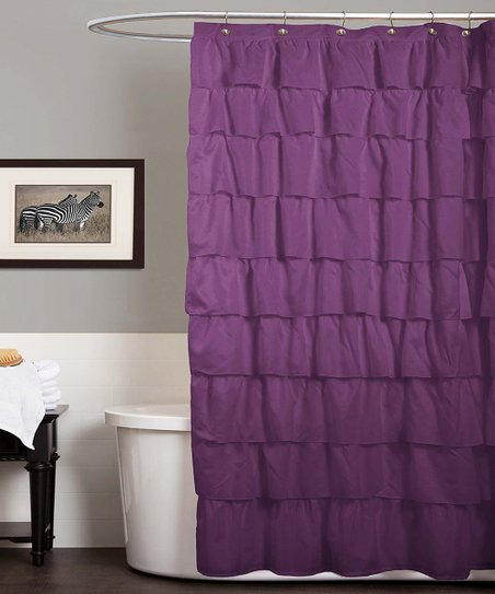 Love This Product Purple Ruffle Shower Curtain