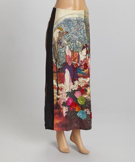 4fb69586c love this product Red Geisha Garden Silk-Blend Skirt - Women & Plus