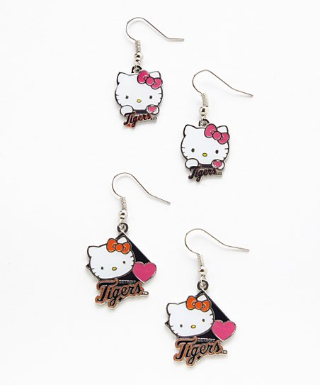 336ecb6cc love this product Detroit Tigers Hello Kitty Earrings Set