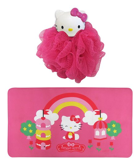 Hello Kitty Shower Mat Bath Pouf Set Zulily