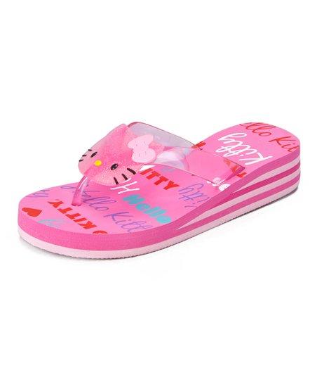 28c8cdf80 Hot Pink Hello Kitty Wedge Flip-Flop   Zulily