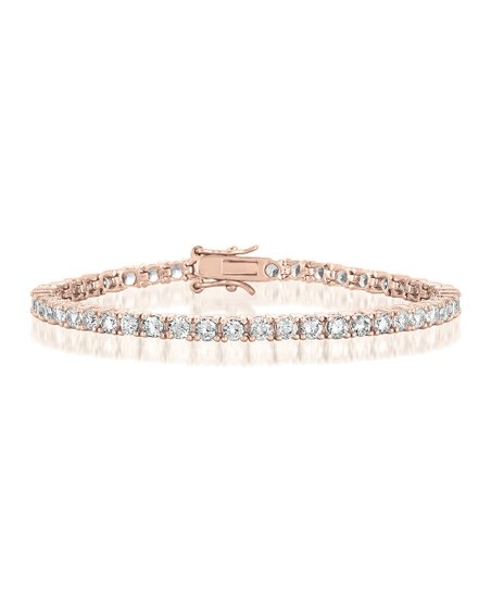 Rose Gold Lab Created Diamond Tennis Bracelet