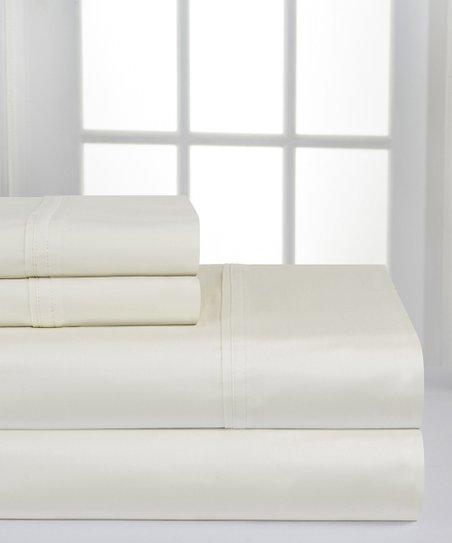 Ivory Deep Pocket Cotton Sheet Set Zulily