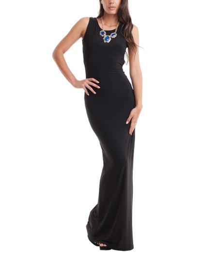 Symphony Black Sleeveless Open Back Maxi Dress Zulily