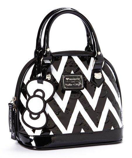 d8005b1d2 Loungefly Black & White Chevron Hello Kitty Mini Bag   Zulily