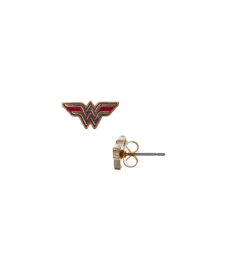 5993a3ff1 SalesOne International Wonder Woman Logo Stud Earrings   Zulily