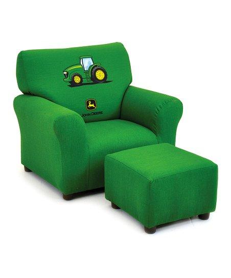 John Deere Green Club Chair Ottoman, John Deere Furniture