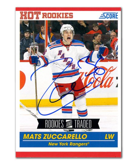 eec38f7ea love this product Mats Zuccarello-Autographed New York Rangers Panini Card