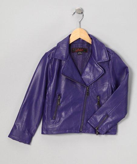 The Whole Shebang Purple Motorcycle Jacket - Girls  0e95b5a5f51a