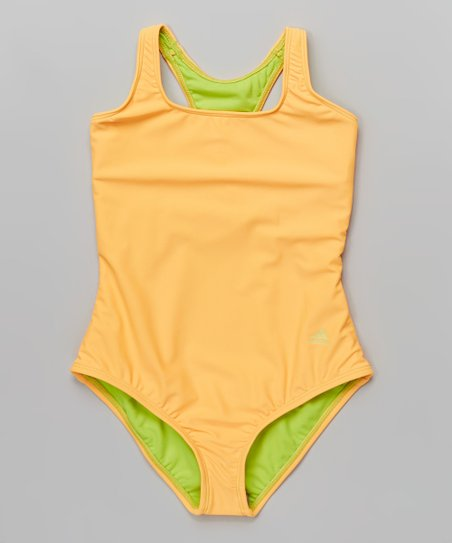 6cb0da2029 love this product Tangerine Color Me Solid One-Piece - Girls