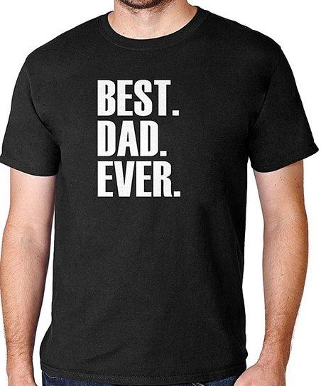 Black 'Best Dad Ever' T-Shirt