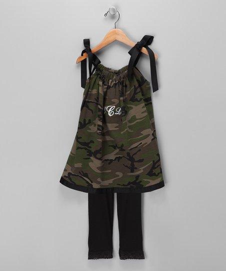 8a90998211e0 love this product Camo Monogram Swing Dress & Leggings - Infant, Toddler &  Girls