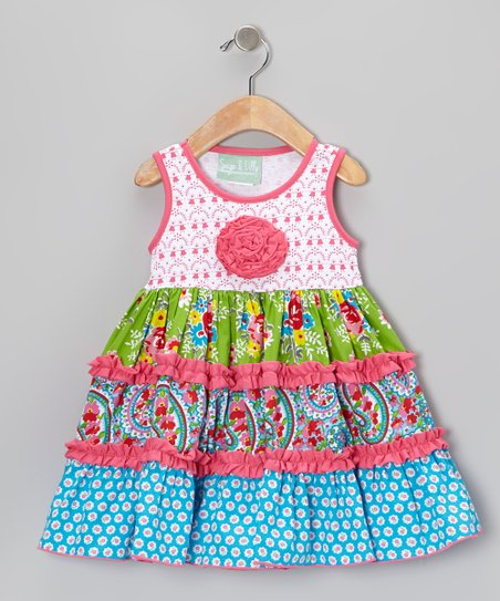 66ff22f53 Pink   Blue Paisley Party Katie Dress - Infant   Girls