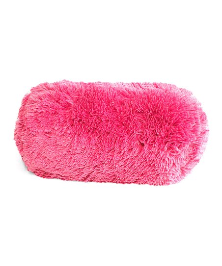 Berkshire Blanket Pink Fashion Fuzzy Neck Roll Pillow Zulily