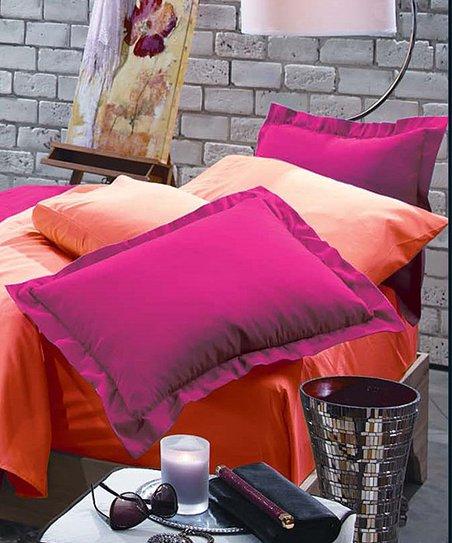 C Rampage Reversible Comforter Set, Raspberry Colored Bedding