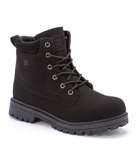 FILA Black Edgewater 12 Leather Hiking Boot Men Zulily  Zulily