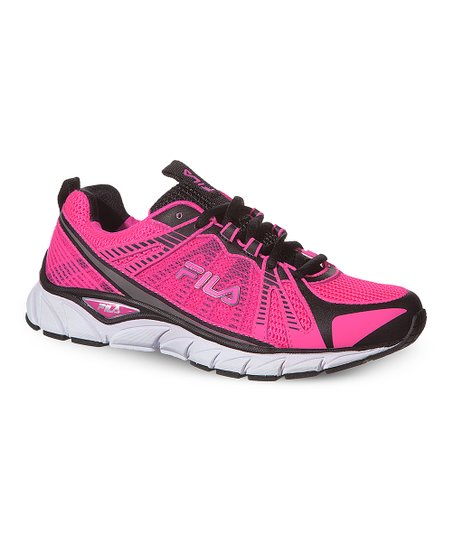 47097e284ee3b FILA Pink & Black Threshold Running Shoe