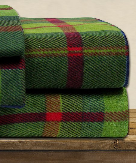 Modern Threads Green Red Plaid Flannel Sheet Set Best Price And Reviews Zulily