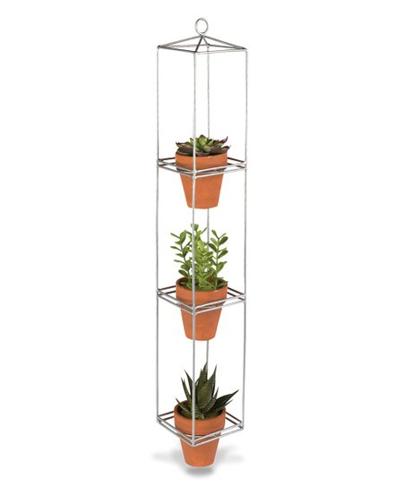 Galvanized Metal Three Tier Hanging Planter Zulily