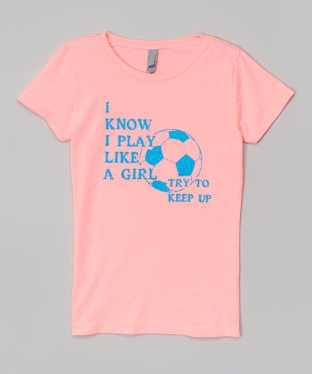 love this product Neon Pink  Play Like a Girl  Soccer Tee - Toddler   Girls fc2b88c37