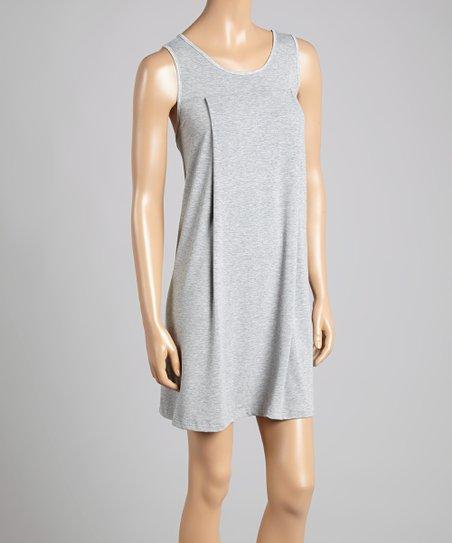 bfae9c1f244b Savi Mom Gray Yoke Maternity Nursing Sleeveless Nightgown