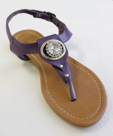 65ca20caa love this product Purple Rhinestone Medallion Sandal