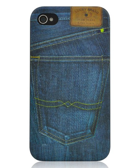 703798b96a65c6 love this product Photo Reel Denim Black iPhone 4 4s Case