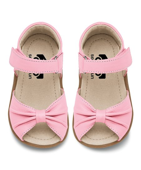 See Kai Run Pink Leather Avianna Sandal  acf4bfb3331e