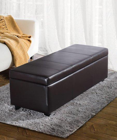 Astonishing Simpli Home Brown Avalon Large Storage Ottoman Zulily Dailytribune Chair Design For Home Dailytribuneorg