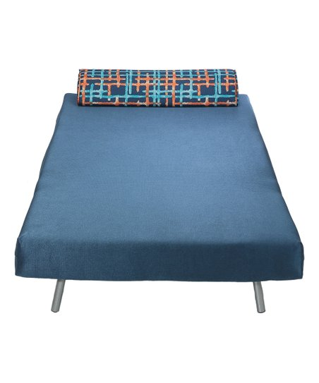 Awesome Cortesi Home Navy Savion Convertible Accent Chair Bed Zulily Dailytribune Chair Design For Home Dailytribuneorg