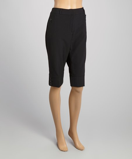 ea0ef40796 Jonesie and Magg Black Shaping Bermuda Shorts | Zulily