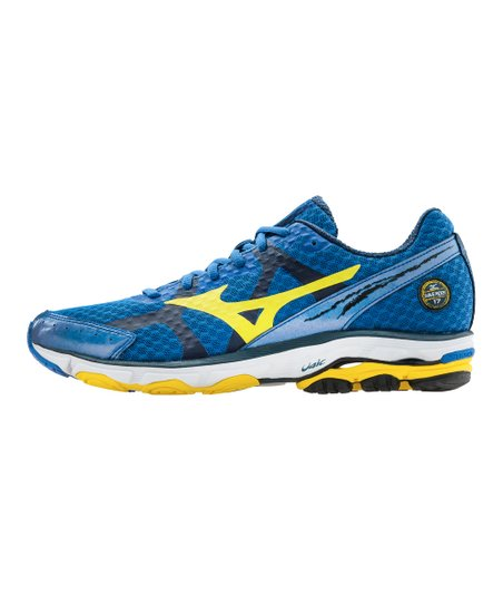 new arrival f96ce 2a94c love this product Olympian Blue   Cyber Yellow Wave Rider 17 Running Shoe